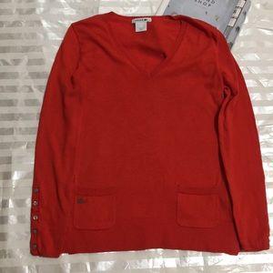 Lacoste Orange Sweater